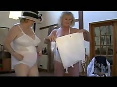 Hot grannies in lingerie fingering and..