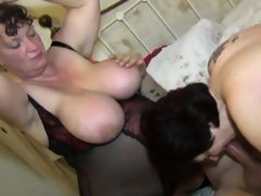 Big tits matures lick each out and..