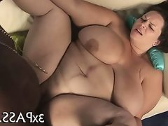 Ebony guy fucks fat girl