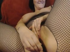 Milf and masturbating in my fishnet