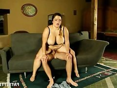 Busty bbw sits on face and fucked hard