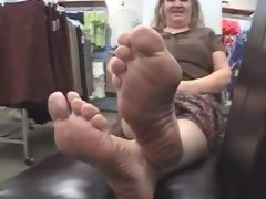 White lad bbw thick meaty soles..