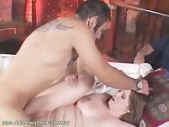 Bbw wife doggy fucked while sucking a..