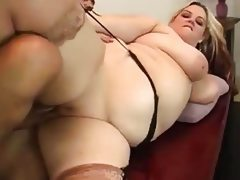 Hefty slut sexercises with president