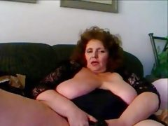 Amateur mature masturbation with sex..