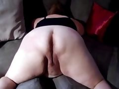Ssbbw open her ass for bbc