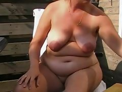 Hot chubby mature with fat nipples..