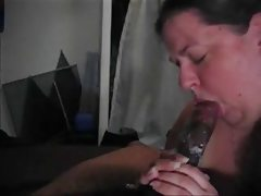 Amateur wet sloppy interracial blowjob..
