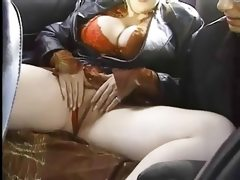 Big titted redhead picked up in taxi..