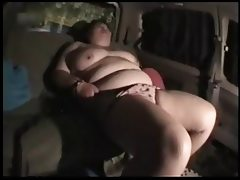 Japanese bbw car in kinky play