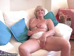 Chubby grandma with big old tits fucks..