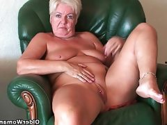 Busty and curvy grandma sandie..